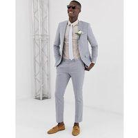 Burton Menswear linen suit trousers in blue - Blue, len