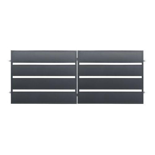 Polbram steel group Brama dwuskrzydłowa leda 4 x 1 58 m ocynk antracyt (5901122311034)