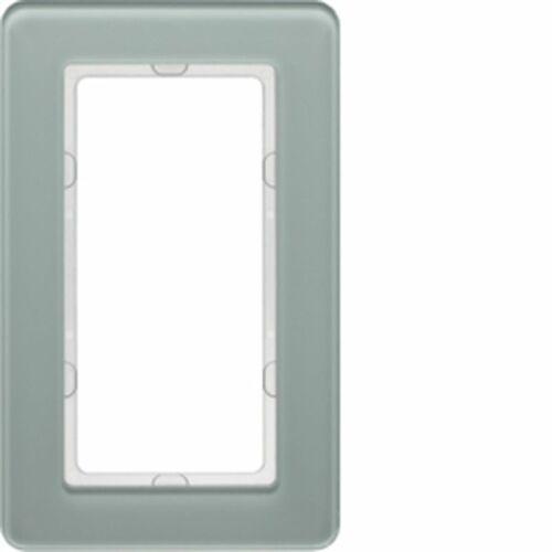 KNX Q.7 Ramka z dużym wycięciem szkło białe 13096079, kolor biały