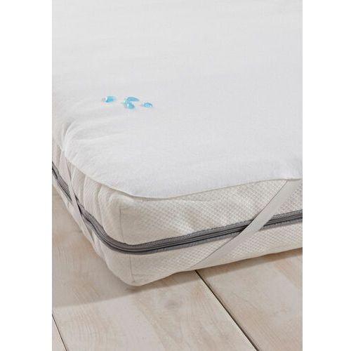 Bonprix Ochraniacz moltonowy na materac biały