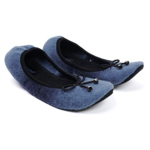 Granatowe pantofle domowe damskie Panto Fino B-07 37 granatowy, kolor niebieski
