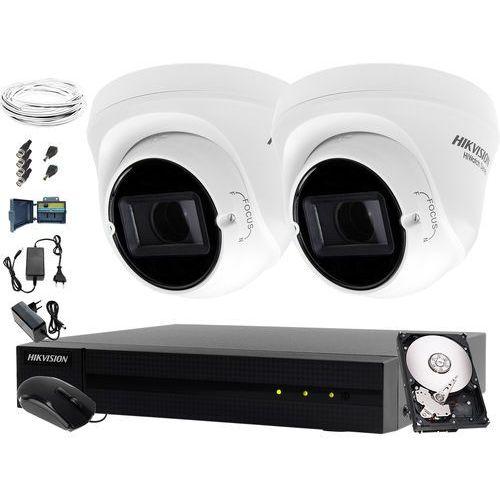 Monitoring placu, firmy, sklepu, domu Hikvision Hiwatch HWD-6104MH-G2, 2 x HWT-T340-VF, 1TB, Akcesoria