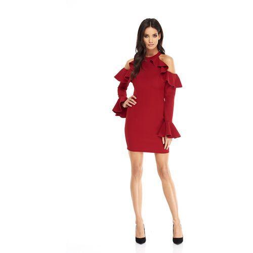 Sukienka Ava w kolorze bordowym, w 3 rozmiarach