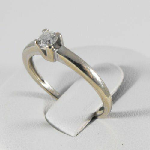 Złoty pierścionek z diamentem P1552A, kolor żółty