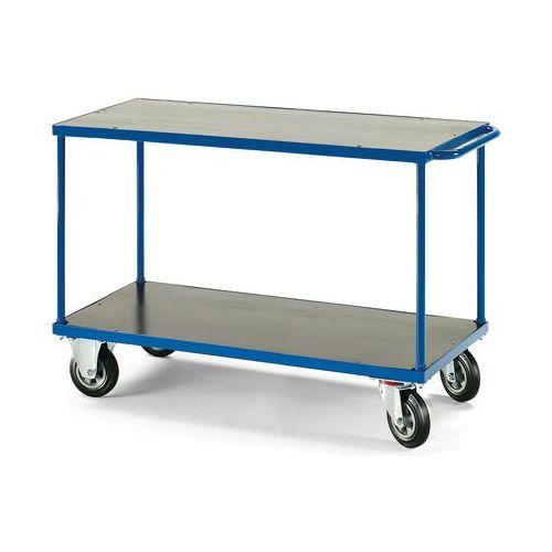 Wózek platformowy, Platforma: 1200x800mm, Bez hamulca