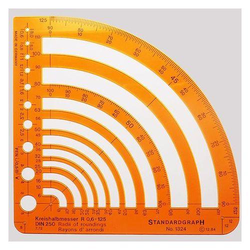 Szablon promienie 0,6-125mm x1 marki Szablony techniczne