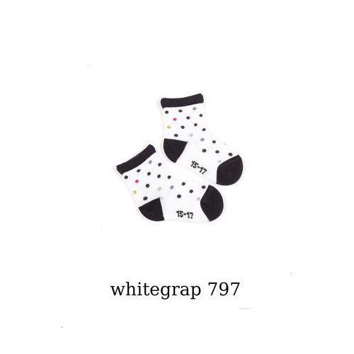 Wola Skarpety girl wzorowane w14.01p 0-2 lata 18-20, biało-różowy/whitefuch 797, wola