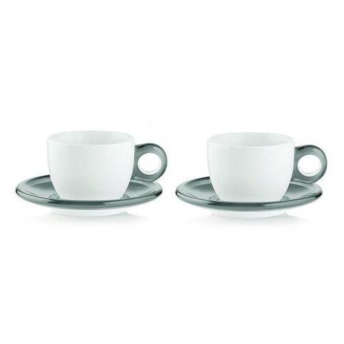 Guzzini - Gocce - kpl. 2 filiżanek do cappuccino, szary - szary (8008392266969)
