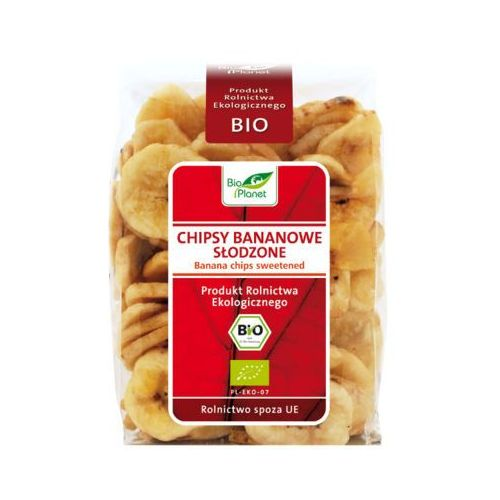 BIO PLANET 150g BIOKĄSKI Chipsy bananowe słodzone Bio