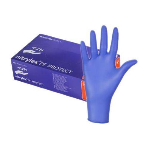 Nitrylex pf protect rękawiczki nitrylowe - rozmiar xs (5-6) marki Mercator medical