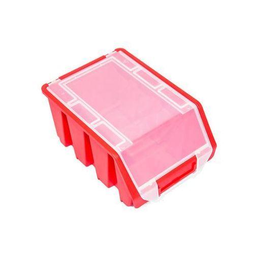Patrol Średni pojemnik magazynowy warsztatowy ergobox 3 czerwony plus (5901238242901)