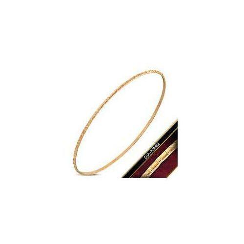 Okrągła Bransoleta / Bangle ze stali nierdzewnej w kolorze różowego złota, stal 316L, DBA236