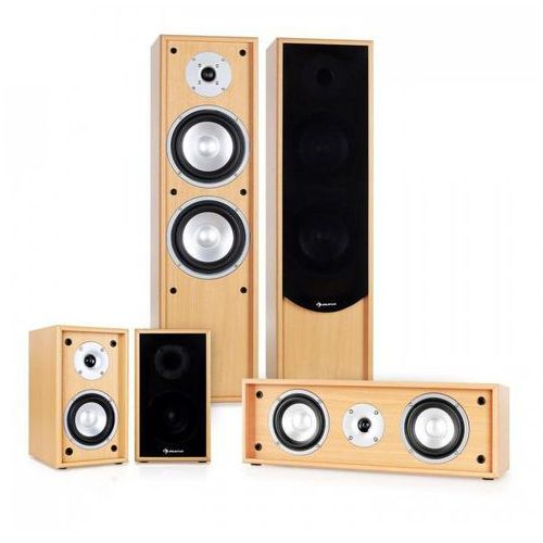 System audio 5.0 do kina domowego linie-300-bh 265w rms marki Auna