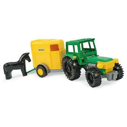 Traktor z łyżką oraz z przyczepą i koniem, WAD-35220