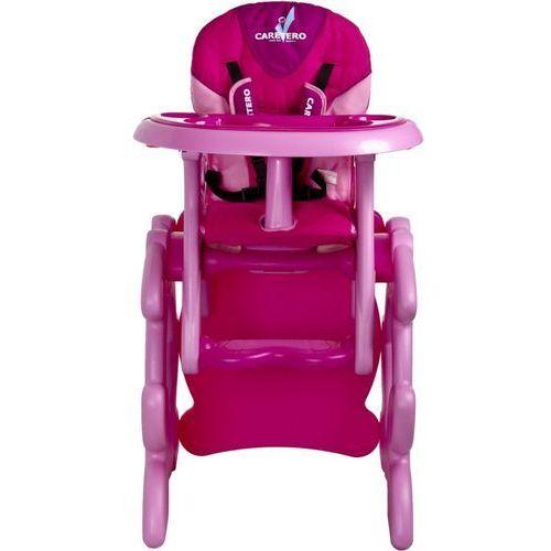 Krzesło do karmienia CARETERO ze stoliczkiem Primus różowy + DARMOWY TRANSPORT!