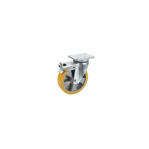 Opona z pu na feldze aluminiowej, Ø x szer. kółka 125x40 mm, rolka skrętna z pod marki Proroll