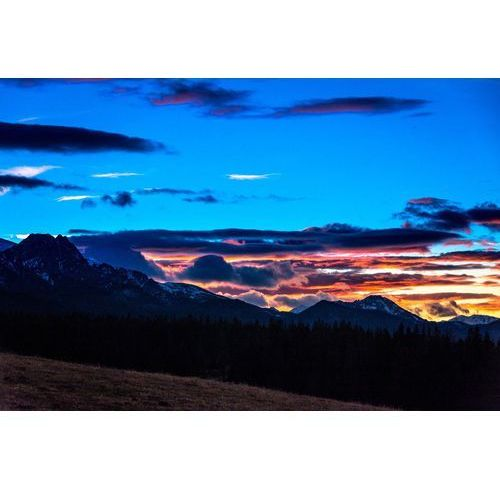 Wally - piękno dekoracji Fototapeta na ścianę zimowy zachód słońca w górach fp 5635