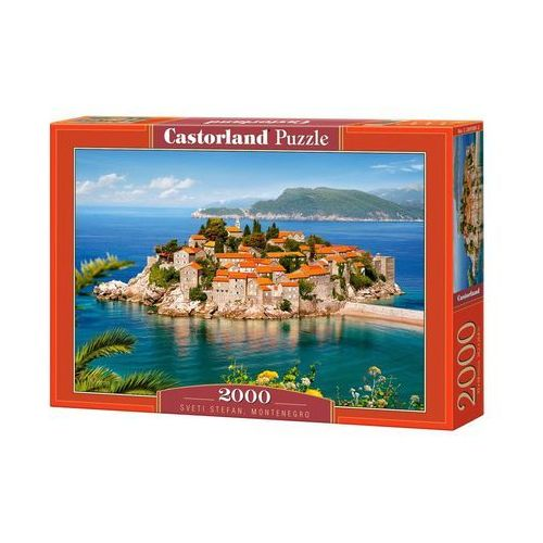 Castor Puzzle 2000 elementów. sveti stefan, montenegro