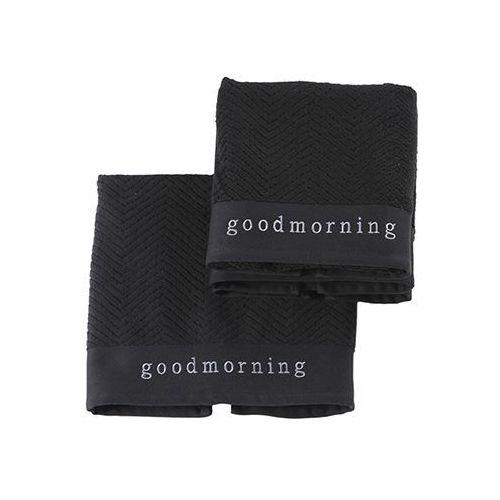 Ręcznik Aquanova Good Morning czarny 55x100 cm