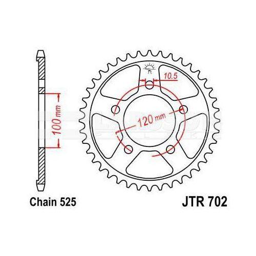 Zębatka tylna stalowa JT 50-29022-44, 44Z, rozmiar 525 2302226 Aprilia RSV 1000
