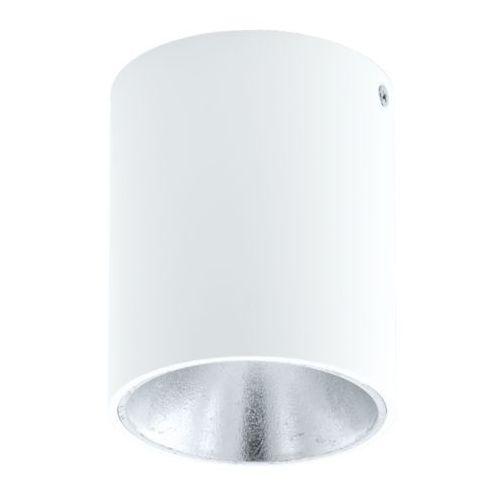 Lampa sufitowa polasso biało/srebrna - okrągła, 94504 marki Eglo