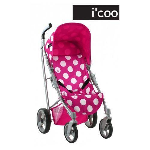 wózek sportowy dla lalek icoo pluto, kropki marki Hauck