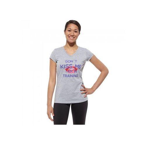 T-Shirt Reebok Kiss Me Tee Z71152 - Szary, kolor szary