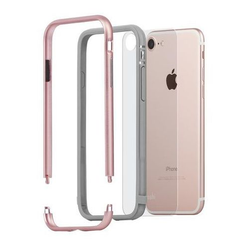 Moshi Luxe - Aluminiowy bumper iPhone 7 (Rose Pink) (4713057251092)