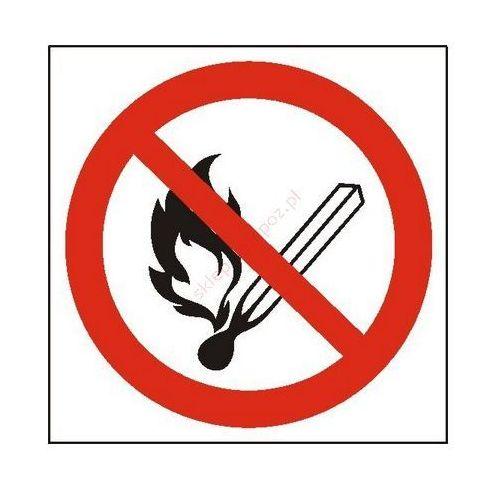 Znak zakaz używania otwartego ognia i palenia tytoniu pb marki Techem