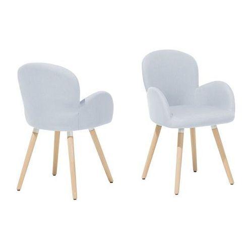 Zestaw do jadalni 2 krzesła miętowo-szare BROOKVILLE (4260586358797)