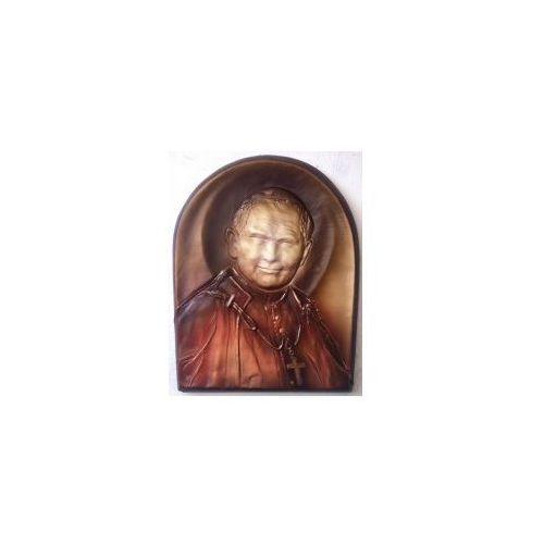 PIĘKNY PREZENT - płaskorzeźba w skórze ŚWIĘTY PAPIEŻ JAN PAWEŁ II - PD-5