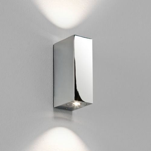 Astro Bloc mk2 led up/down wall light chrome (5038856008296)