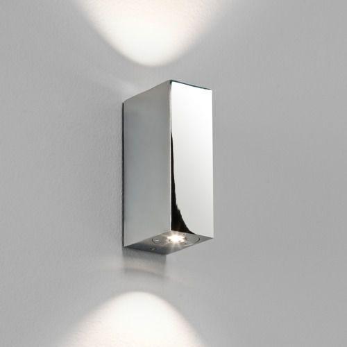 Astro Bloc mk2 led up/down wall light chrome