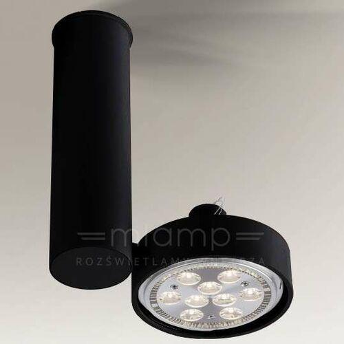 Spot LAMPA sufitowa NATORI 2208 Shilo regulowana OPRAWA reflektorowa tuba czarna, 2208