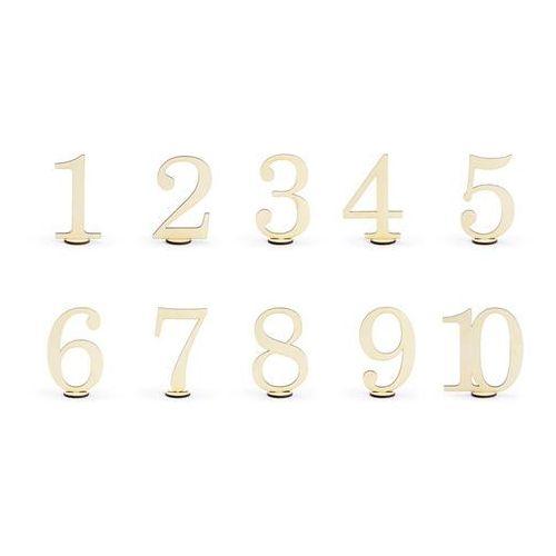 Party deco Drewniane numery na stół - 10 szt. (5900779104822)