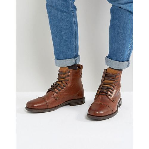 emmerson leather boots in brown - brown, Levis