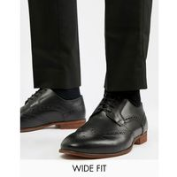 Kg by kurt geiger wide fit brogues in black leather - black marki Kg kurt geiger