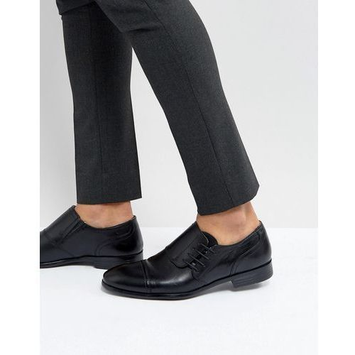Red tape side tie smart shoes - black