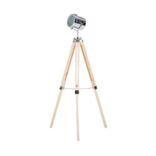 Beliani Lampa stojąca jasnobrązowa 95-139 cm alzette (7081459240431)