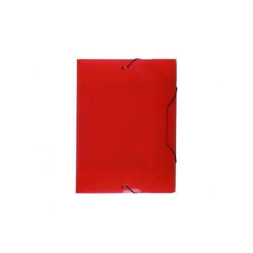 Biurfol Teczka skrzydłowa z gumką tg-13-01 transparentna czerwona
