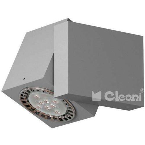 Kinkiet LAMPA ścienna VISION T012C4Km+kolor+35W Cleoni regulowana OPRAWA reflektorek kostka