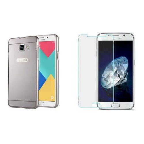 Mirror Bumper Metal Case Czarny | Etui dla Samsung Galaxy S7 Edge - Czarny, kolor Czarny