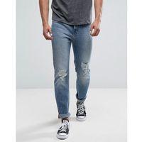 rider slim jeans mega rips light wash - blue marki Lee