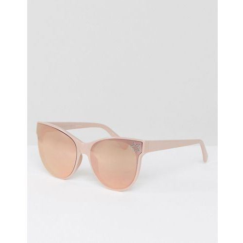Stella mccartney sc0100s cat eye sunglasses in rose gold 61mm - gold