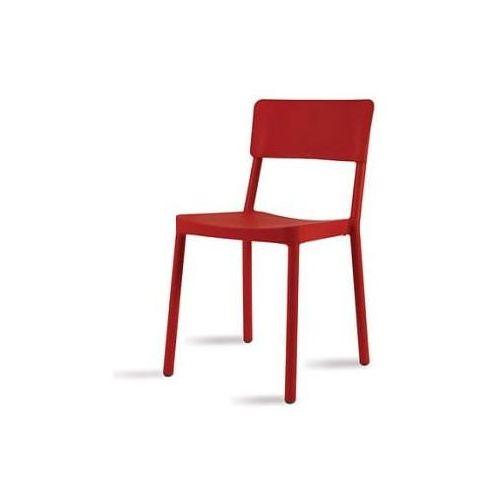 Krzesło Lisboa czerwone, kolor czerwony
