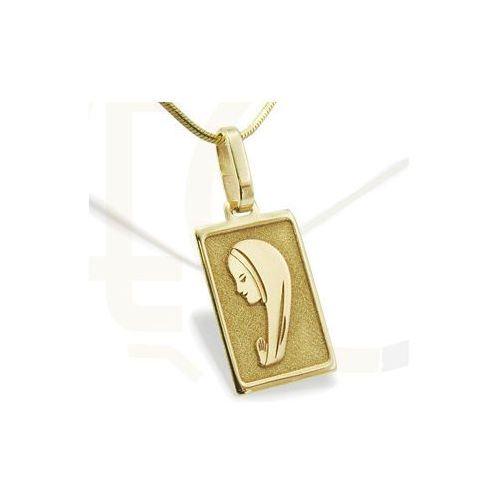 Medalik z żółtego złota med-1-1 - ok. 20,5 mm x 8,8 mm wyprodukowany przez Węc - twój jubiler