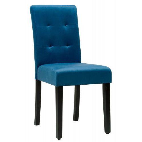 OKAZJA - Meblemwm Krzesło tapicerowane drewniane dx17-1 niebieski welur