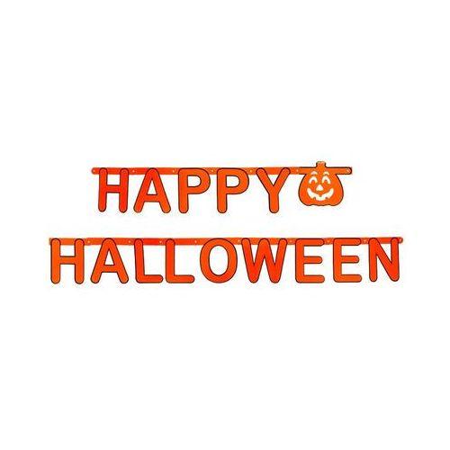 Twojestroje.pl Baner happy halloween pomarańczowy 1,6m (5905548982571)
