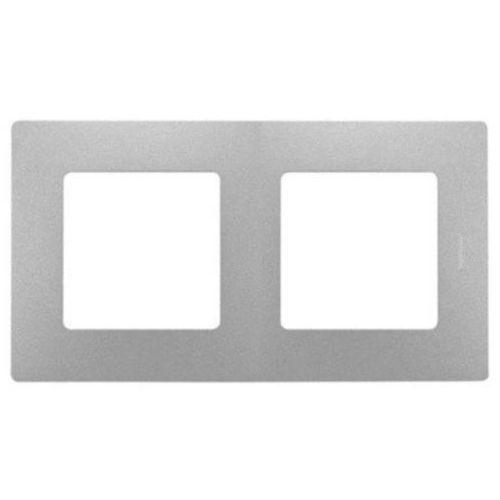 Legrand Ramka podwójna niloe 397042 aluminium (3414970302823)
