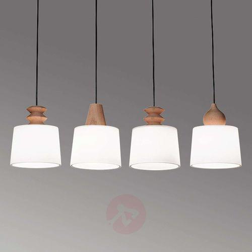 Lampa wisząca Eduardo z czterema kloszami (5201769068552)